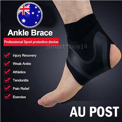 Ankle Brace Fitness Foot Sprain Support Bandage Achilles Strap Protector M/L
