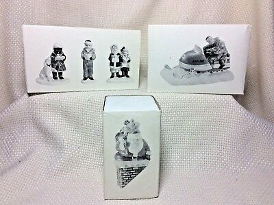 Lot Of 3 Dept. 56, Original Snow Village Accessories, Retired, Boxed