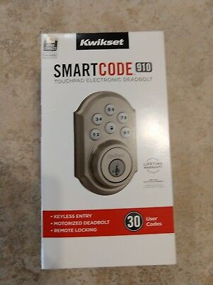 Kwikset SMARTCODE 910 Touchpad Electronic Deadbolt 99100-005 NEW