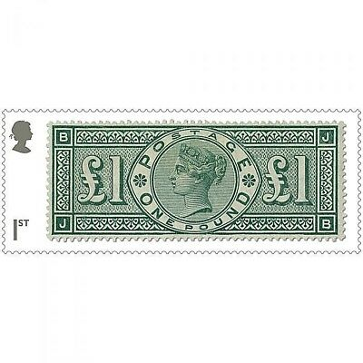 'Queen Victoria £1 green of 1891' illustrated on 2019 stamp - U/M