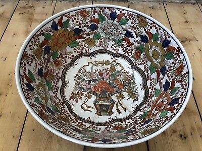 Antique Large Japanese Handpainted Porcelain Bowl