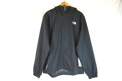 NWT THE NORTH FACE Men's Black Quest Waterproof Hooded Rain Jacket Large L