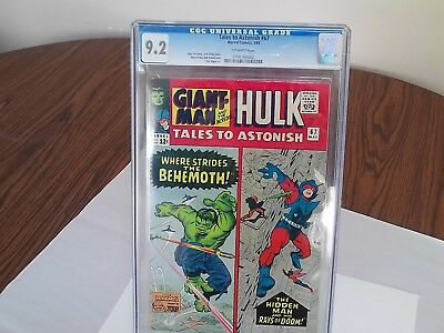 Marvel Tales To Astonish #67 1965 CGC 9.2 Off-White Pages Hulk/Giant Man