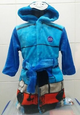 New Mothercare Thomas Tank Engine Hooded Dressing Gown XS (Up to 2 Years)