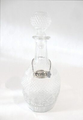 LOVELY DELICATE Early Antique PRESSED GLASS DECANTER ORIG STOPPER Country Flavor