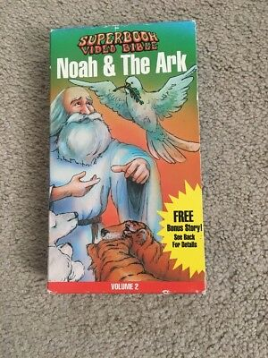 SuperBook Video Bible - Noah's & The Ark Volume 2 VHS Great Condition