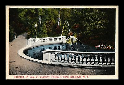 Dr Jim Stamps Us Fountain Vale Of Casmere Prospect Park New York Postcard