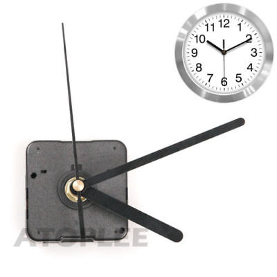 Black Wall Clock Quartz Movement Mechanism Battery Operated Repair Parts-Kit G02