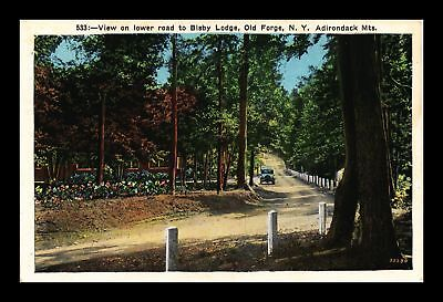 Dr Jim Stamps Us Lower Road Bisby Lodge Old Forge New York View Postcard