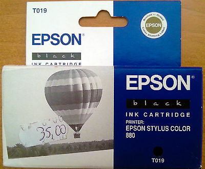 CARTUCCIA EPSON stylus color 880 T019 T 010 nero black INK CARTRIDGE 1520