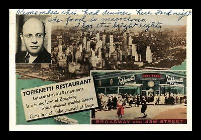 Dr Jim Stamps Us Toffenetti Restaurant New York City Topical View Postcard
