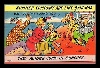 Dr Jim Stamps Us Comic Summer Company Are Like Bananas Linen Topical Postcard