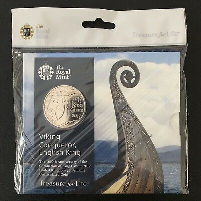 2017 Royal Mint King Canute UK £5 Brilliant Uncirculated Coin Pack