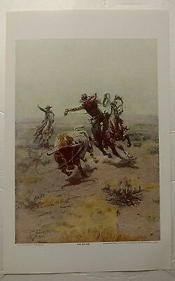 CM Russell The Bolter 1911 Painting Print Reproduction Western Art Horse & Rider