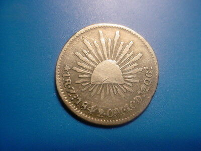 MEXICO - SILVER - 1842 Zs 1-REAL IN NICE CONDITION