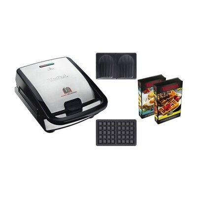 TEFAL Gaufrier multifonction Snack collection - SW853D12 - Inox