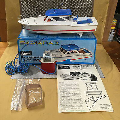 Rare Schuco Elektro Samara Ii  Boat Perfectly Working W/all Attachments & Box!