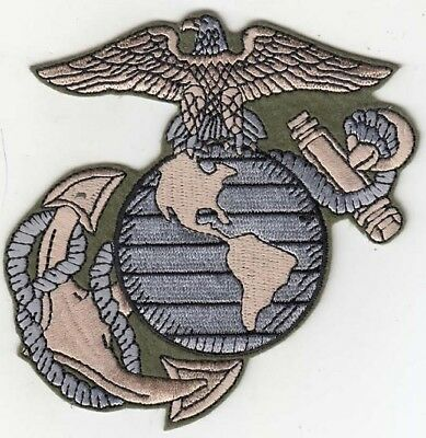 """2 Pcs USA MARINE CORPS Logo Embroidered Patches 4""""x4"""""""