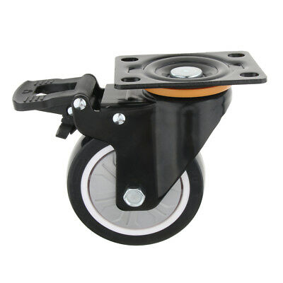 Office Chair Swivel Caster Wheels - Safe for Hardwood/Laminate - Mute 4 inch