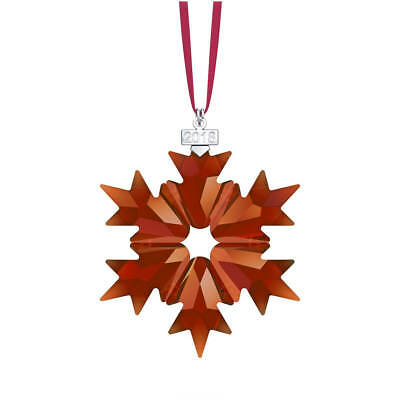 SWAROVSKI Holiday Annual Ornament Christmas Snowflake Star Magma Red NIB 5460487