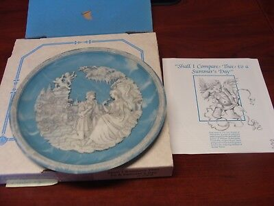 Shall I Compare Thee to a Summers Day Cameo Collectible Plate Shakespeare Sonnet