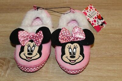 NEW Disney Minnie Mouse Toddler Slippers in Pink
