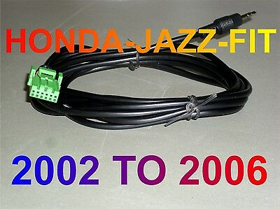 Aux cable Kabel Honda jazz fit  mp3 iphone 2002 2006 first generation models  .