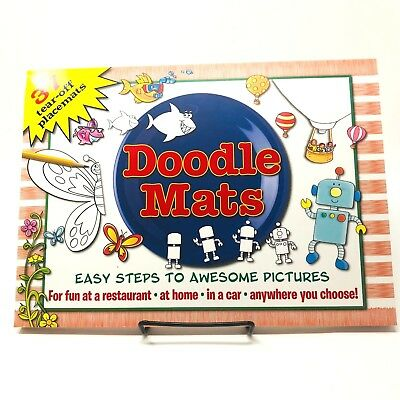 Doodle kids' 37 tear off placement mats fun pictures doodling coloring