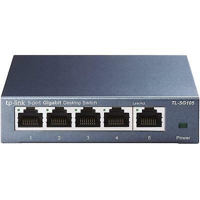 TP-Link TL-SG105 5 Port Metal Gigabit Switch (10/100/1000M RJ45 ports)