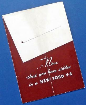 "1932 FORD V-8 advertising brochure: ""Now that you have ridden in a New Ford . ."