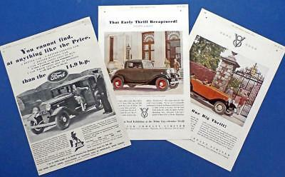 "1932 Ford V-8 British ads in ""Illustrated London News"" (3)"