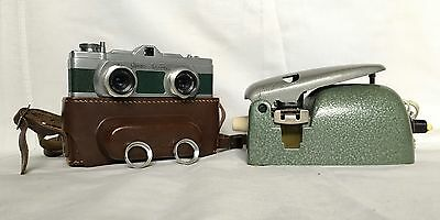 Vintage Camera - Meopta - Stereo Mikroma I With Slide Cutter Stereo 3D Slide