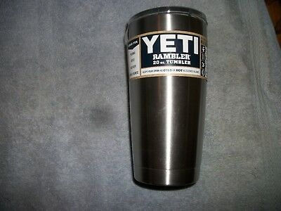 Yeti 20 oz. rambler tumbler with magslider lid - in stainless steel -BRAND NEW