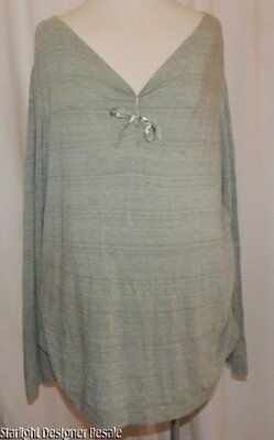 Women's Liz Lange Maternity Pale Green Layering Career Casual Stretch Top XL
