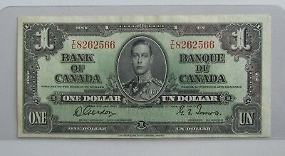 1937 Bank of Canada 1$ Note- Gordon/Towers- CH/AU
