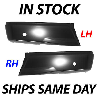 NEW Primered Steel Left & Right Rear Bumper Ends for 2015-2018 Ford F150 w/ Park