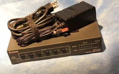 EXTRON MPS 601 6 Input Media Switcher w/ Power Cable