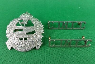 WW2 Canadian Intelligence Corps Cap & Shoulder Title Set