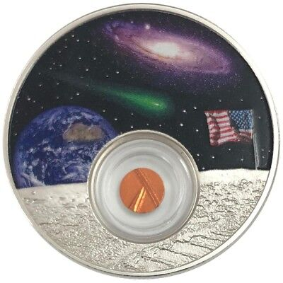 2019 1 Oz PROOF Silver Niue $2 50th ANNIV. OF THE MOON LANDING Coin.