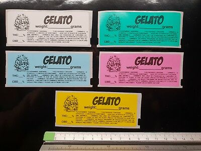 GELATO Cali Medical Labels stickers Tin Jar Pop Top 13/19 dram RX dispensary