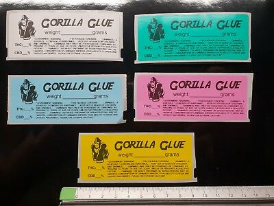 GORILLA GLUE Cali Medical Labels stickers Tin Jar Pop Top POT 13/19 dram RX