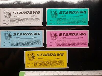 STARDAWG STAR DOG Cali Medical Labels stickers Tin Jar Pop Top POT 13/19 dram RX