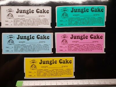 JUNGLE CAKE Cali Medical Labels stickers Tin Jar Pop Top POT 13/19 dram RX