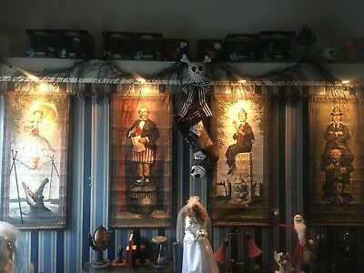 Disney Haunted Mansion Stretching Room Tapestries Complete Set of 4
