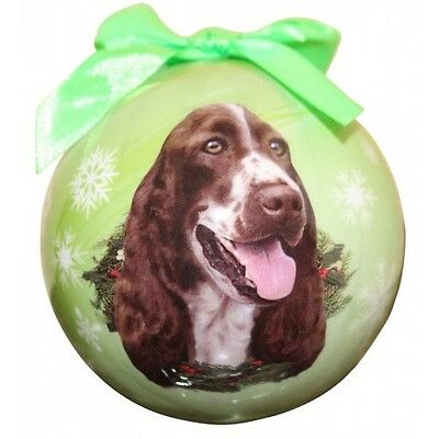 Springer Spaniel Shatterproof Ball Dog Christmas Ornament
