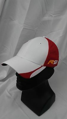 dfdcbca4160 New Taylormade Golf R9 Custom Split 3 Adjustable Hat White Red 100%  Polyester