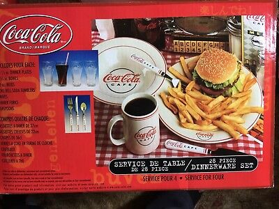 Coca Cola 28 Piece Dinnerware Set