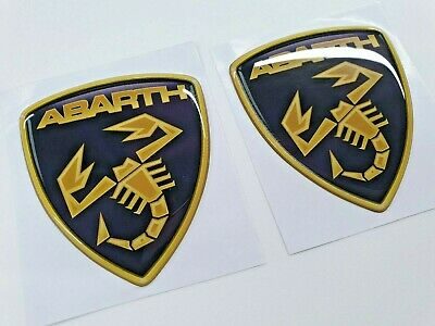 Fiat 500 595 695 Abarth wing Lambo Style high gloss exterior Badges 60mm tall
