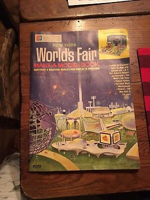 1964-65 New York World's Fair Make a Model Book Complete Unpunched RARE !!!