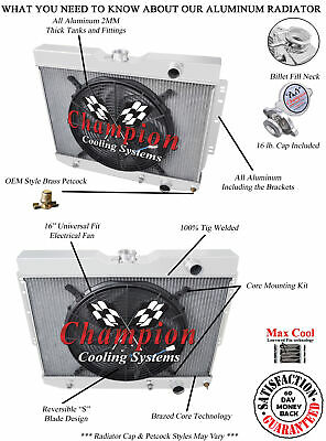 4 Row Ace Champion Radiator for 1960 1961 1962 Chevrolet Truck